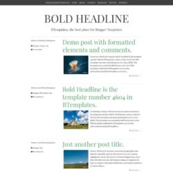 Bold Headline Blogger Template