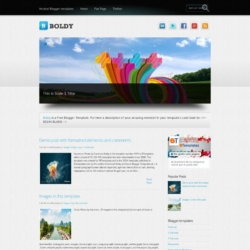 Boldy Blogger Template