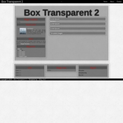 Box Transparent 2.0 Blogger Template