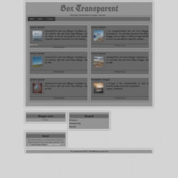 Box Transparent Blogger Template