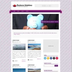 Business Solutions Purple Blogger Template