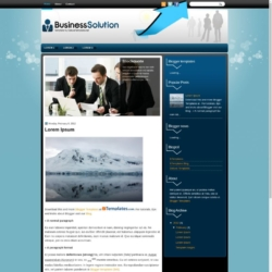 BusinessSolution Blogger Template