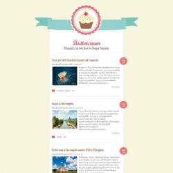 Buttercream Blogger Template
