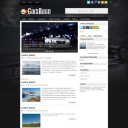 CarsRace Blogger Template