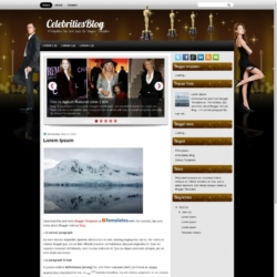 CelebritiesBlog Blogger Template