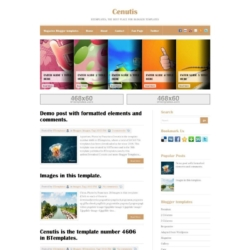 Cenutis Blogger Template