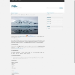 Chiffer Blogger Template
