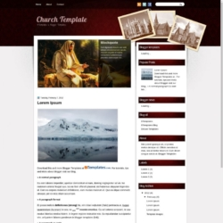 Church Template Blogger Template