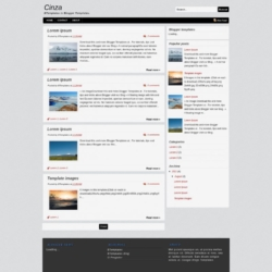 Cinza Blogger Template