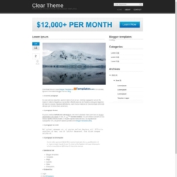 Clear Theme Blogger Template