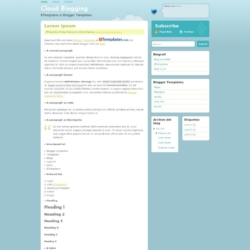 Cloud Blogging Blogger Template