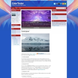 ColorVector Blogger Template