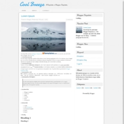 Cool Breeze Blogger Template