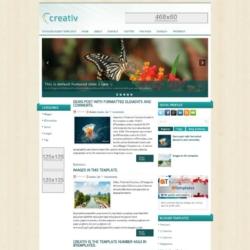 Creativ Blogger Template