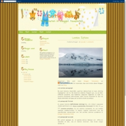 Cutie Baby Blogger Template