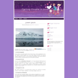 Cycling Couple in Love Blogger Template