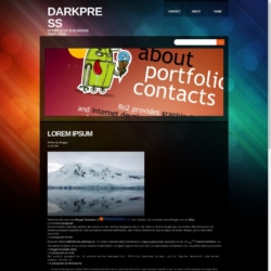 Darkpress Blogger Template