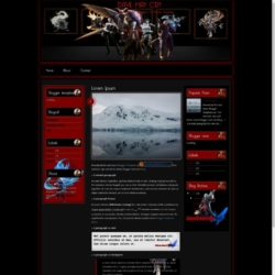 Davil May Cry Blogger Template