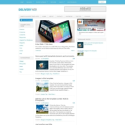 Delivery Lite Blogger Template