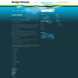 Design Disease Blogger Template
