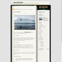 Diary/Notebook Blogger Template
