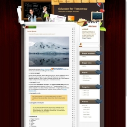 Educate for Tomorrow Blogger Template