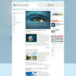 Electronica Blogger Template