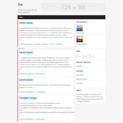 Elok Blogger Template