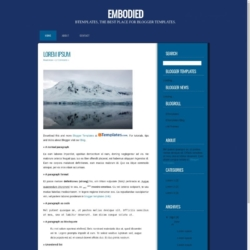 Embodied Blogger Template