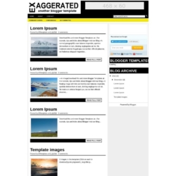 Exaggerated Blogger Template