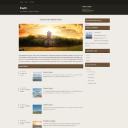Faith Blogger Template