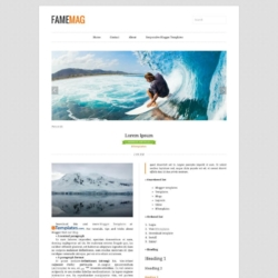 FameMag Blogger Template