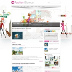 FashionGlamour Blogger Template