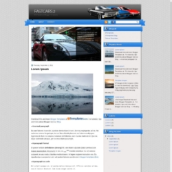 FastCars 2 Blogger Template