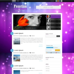 Faustina Blogger Template
