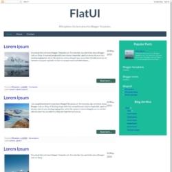 FlatUI Blogger Template