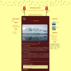 Floating Leaves Blogger Template