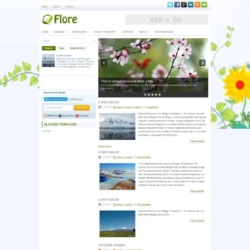 Flore Blogger Template
