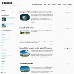 Focused Blogger Template