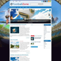 FootballZone Blogger Template