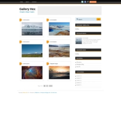 Gallery Hex Blogger Template