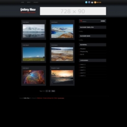 Gallery Maze Blogger Template