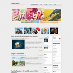Gameliso Magazine Blogger Template