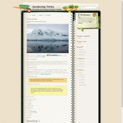 Gardening Tricks Blogger Template