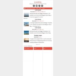 Gaspol Blogger Template