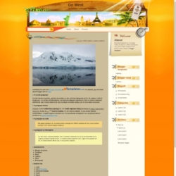 Go West Blogger Template