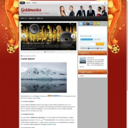 Goldmovies Blogger Template