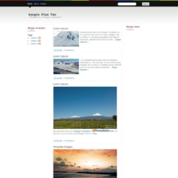 Google Plus fan Blogger Template