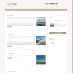 Greetings Blogger Template