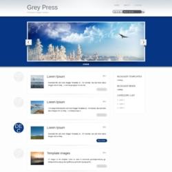 Grey Press Blogger Template